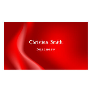 Elegant and  modern red wave Business Card