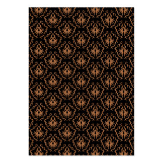 Elegant black and brown damask pattern. pack of chubby business cards