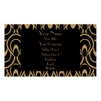 Elegant Black & Gold Art Deco Design Luxury Linen Pack Of Standard Business Cards