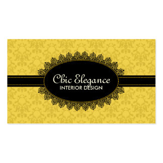 Elegant Black Lace and Baroque Business Cards
