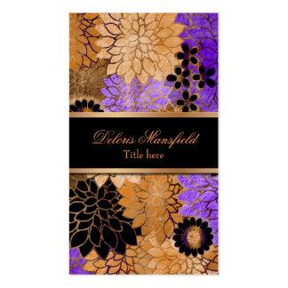 Elegant Bronze & Lavender Foil Look Business Card
