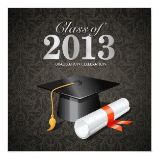 Elegant Damask Class of 2013 13 Cm X 13 Cm Square Invitation Card