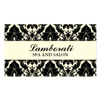 Elegant Damask Floral Pattern Cream Modern Stylish Pack Of Standard Business Cards