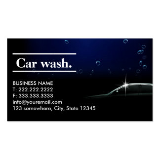Elegant Dark Auto Detailing/Car Wash Business Card