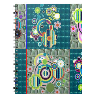 Elegant Exotic Artistic Pattern Stone Crystal GIFT Spiral Note Books