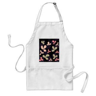 Elegant floral design standard apron