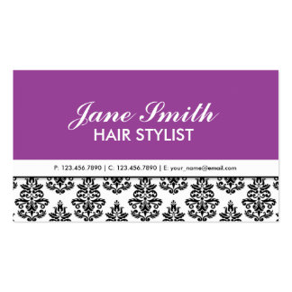 Elegant Floral Pattern Stylist Salon Hairdresser Pack Of Standard Business Cards