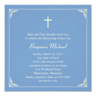 Elegant Frame Baptism/Christening Invitation