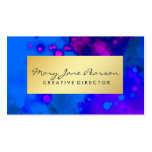 Elegant Gold Luxe Blue Purple Watercolor Pack Of Standard Business Cards