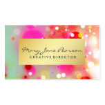 Elegant Gold Luxe Red Pink White Green Watercolor Pack Of Standard Business Cards