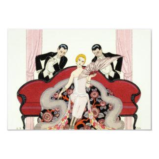 Elegant Lady in Paris Art Deco Invitations