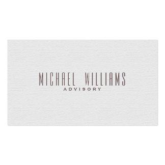 ELEGANT MINIMALIST PROFESSIONAL SIMPLE TARGET PACK OF STANDARD BUSINESS CARDS