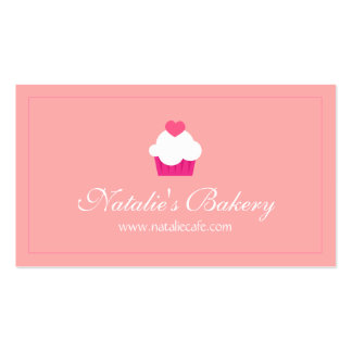 Elegant, Modern, Sweet Cupcake, Bakery Pack Of Standard Business Cards