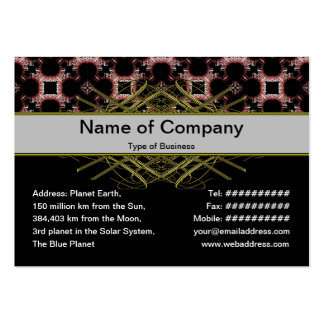 Elegant Paper Flower Cut Outs Small Pack Of Chubby Business Cards