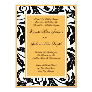 Elegant Scroll Beeswax Wedding Invitations