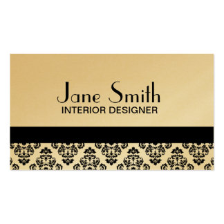Elegant Stylish Classy Damask Floral Professional Pack Of Standard Business Cards
