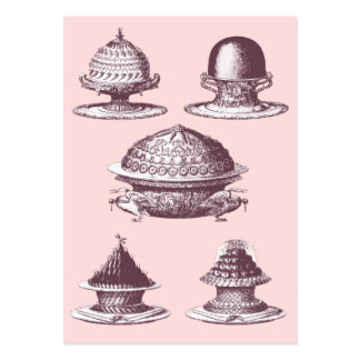 Elegant Vintage French Cakes Bakery Pack Of Chubby Business Cards