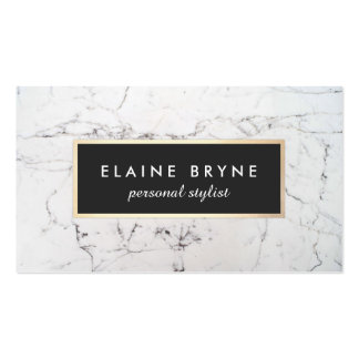 Elegant White Marble Makeup Artist Beauty Pack Of Standard Business Cards