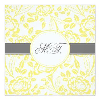 Elegant Yellow Rose Design Birthday Invitation