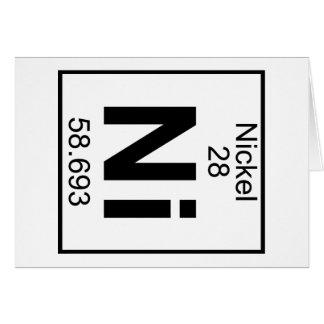 Element 028 - Ni - Nickel (Full) Greeting Card