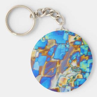Elements/Yttrium under the microscope Basic Round Button Key Ring