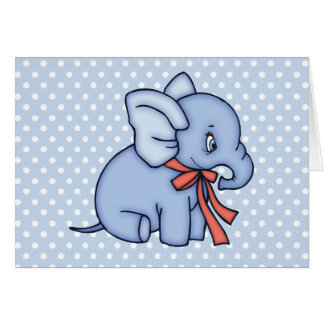 Elephant Toy Blue Note Card
