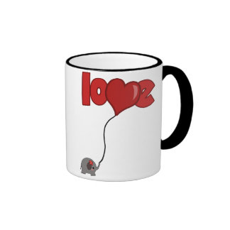 ElephantBalloon Ringer Mug
