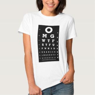 Elite Gamer Eye Chart T-shirts