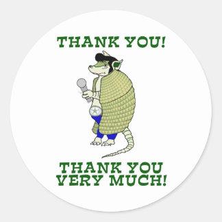 Elvisdillo Thank You, Thank You Very Much Round Sticker