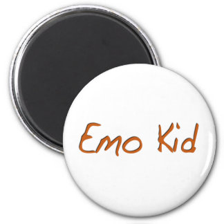 Emo Kid 6 Cm Round Magnet