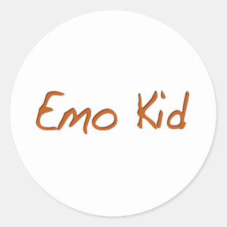 Emo Kid Round Sticker