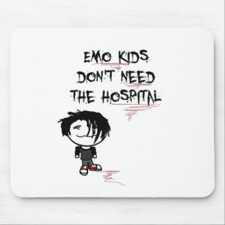 emo kids don't need the hospital mouse pad
