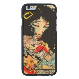 Emotional art, low brow girl art iPhone6 case