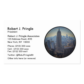 Empire State Building, NYC Skyline, Fish Eye View Pack Of Standard Business Cards