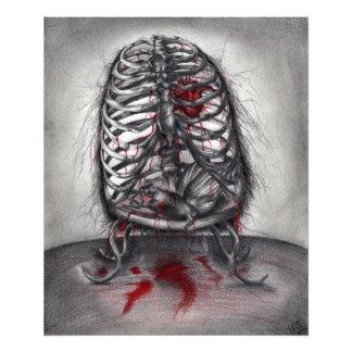 Empty Cage Anatomy Horror Original Art Photo Print