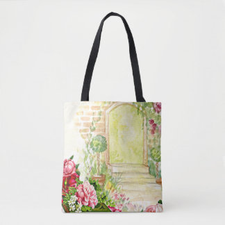 Enchanted Rose Garden Tote Bag