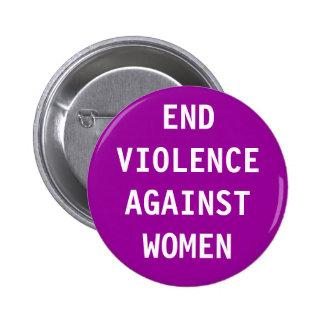 End violence against women 6 cm round badge