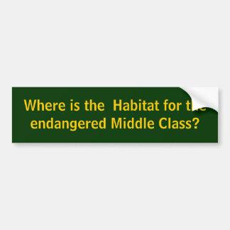 Endangered Middle Class Bumper Sticker