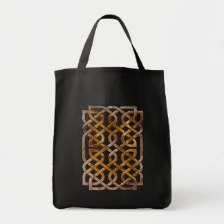 endless celtic knot grocery tote bag