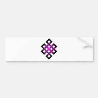 Endless knot bumper sticker