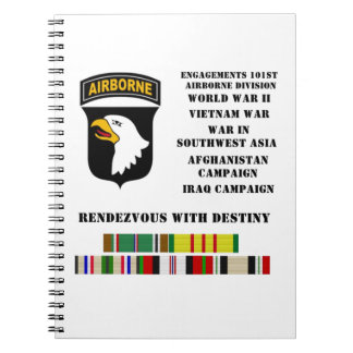 Engagements of the 101st airborne division spiral notebook