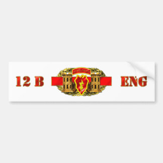 ENGINEER 12B 25TH ID AIR BUMPER STICKER