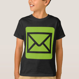 Envelope Sign - Martian Green T-shirts
