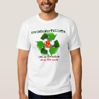Environmentalists: green outside, red inside shirt