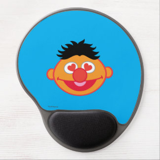 Ernie Smiling Face with Heart-Shaped Eyes Gel Mouse Pad