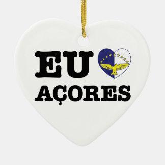 EU AMO ACORES CERAMIC HEART DECORATION