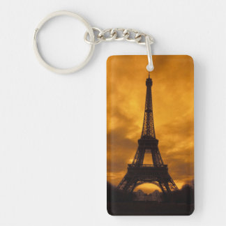 EU, France, Paris.  Eiffel Tower. Double-Sided Rectangular Acrylic Key Ring
