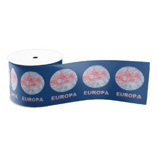 Europa Jupiters Moon Space Geek Colorful Grosgrain Ribbon