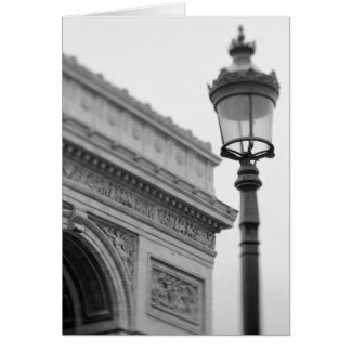 Europe, France, Paris. Arc de Triomphe and Greeting Card