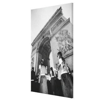 Europe, France, Paris. Military ceremony at the Gallery Wrap Canvas